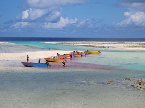Fisherman clean their catch for the day in South Tarawa, Kiribati. Photo: Jolee Wakefield/KAPIII