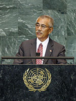 President Tong addresses the UN General Assembly, New York, 2009