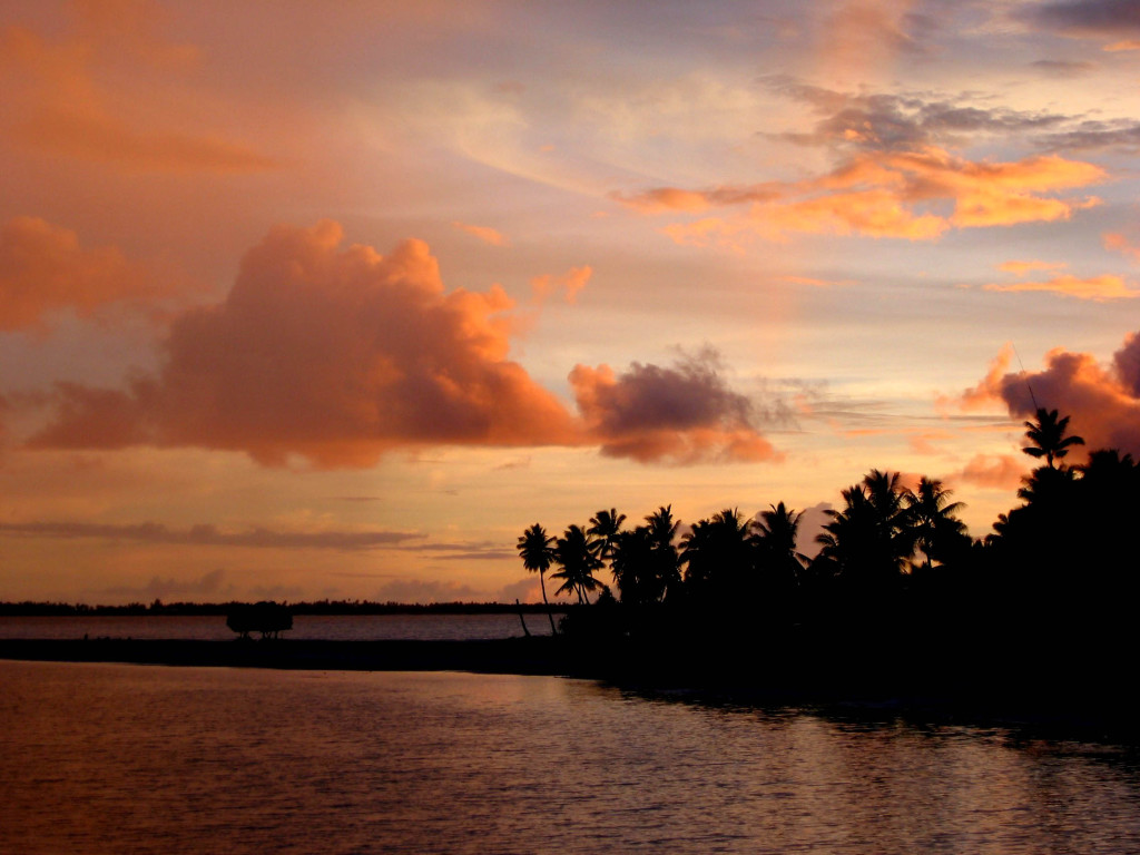 Sunset in Tarawa.