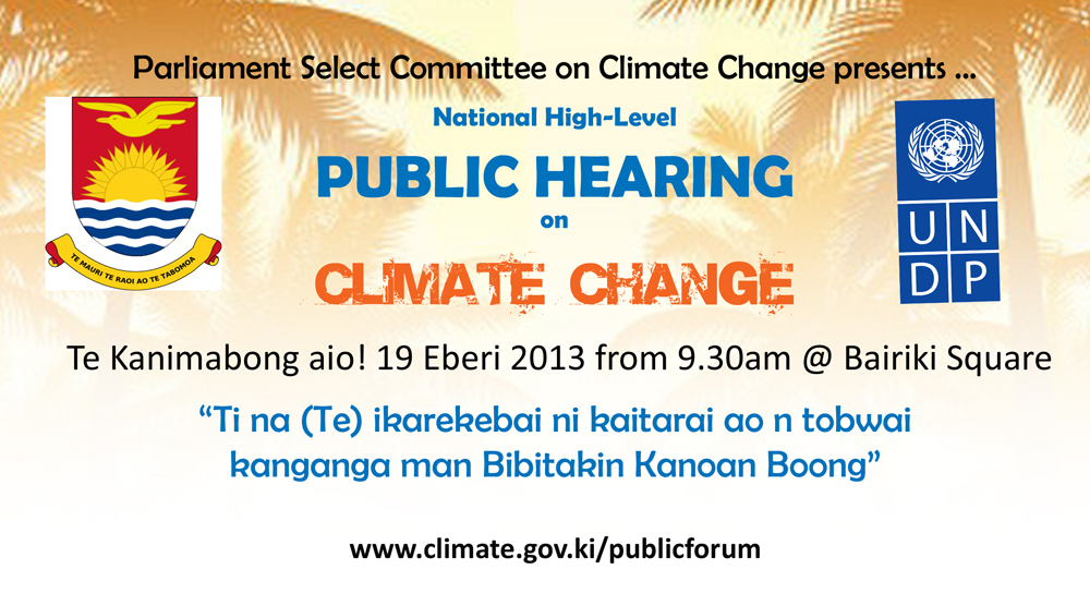 Climate Change Public Hearing Banner web