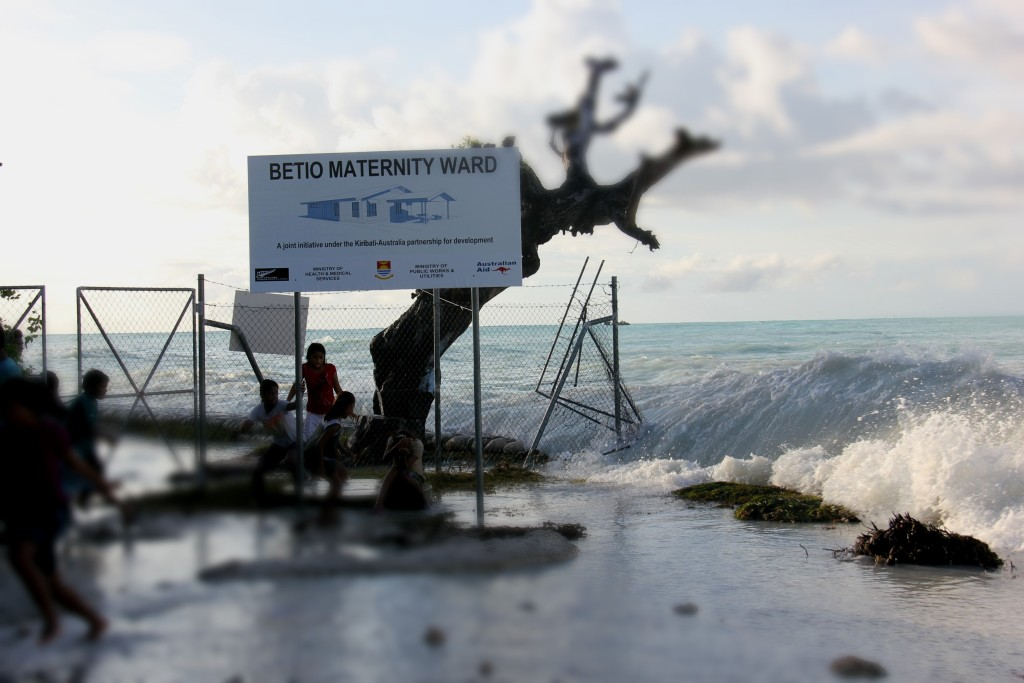 The Betio Maternity Ward in Kiribati's capital is under threat from the March 2015 spring tide