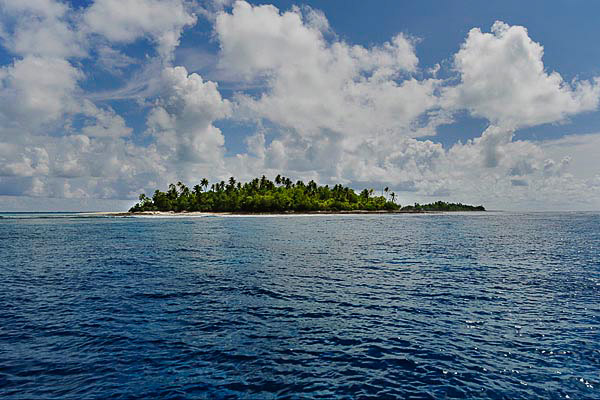 The Island of Abaiang. Much of the archipelago is not more than a few meters above sea level. Photo: Justin McManus, The Age