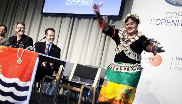 A traditional Kiribati was performed at a side event at the COP15
