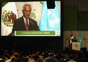 President Anote Tong at COP16, Cancun, Mexico