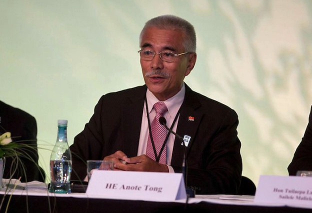 HE Anote Tong at the Pacific Energy Summit 2013 in Auckland, New Zealand.